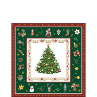 Servietten 25x25 cm - Christmas Evergreen Green