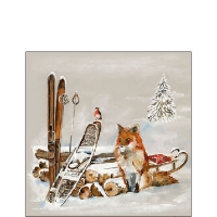 Servietten 25x25 cm - Fox And Bird
