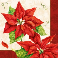 Servietten 33x33 cm - Christmas Time Red