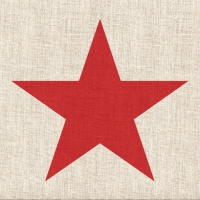 Servietten 33x33 cm - Star Linen Red
