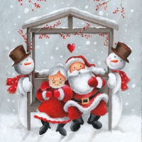 Servietten 33x33 cm - Mr.and Mrs.Claus