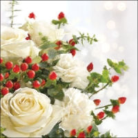Lunch Servietten Christmas Roses