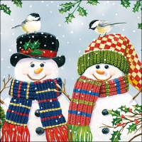 Servietten 33x33 cm - Snowman Couple