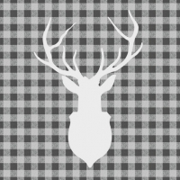 Lunch Servietten Deer Outline Grey