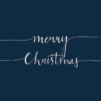 Servietten 33x33 cm - Christmas Note Blue