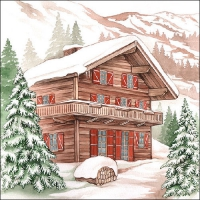 Servietten 33x33 cm - Winter Chalet