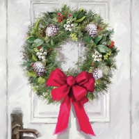 Lunch Servietten White Wreath