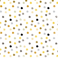 Servietten 33x33 cm - Swirling Dots White