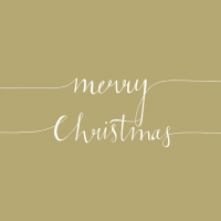 Servietten 33x33 cm - Christmas Note Gold