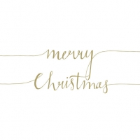 Servietten 33x33 cm - Christmas Note Pos.Gold