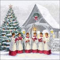 Servietten 33x33 cm - Singing Choir