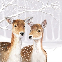 Servietten 33x33 cm - Fallow Deer In Winter