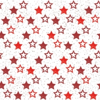 Servietten 33x33 cm - Stars All Over Red
