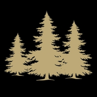 Lunch Servietten Tree Silhouette Black/Gold