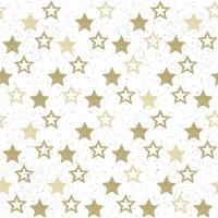 Servietten 33x33 cm - Stars All Over Gold