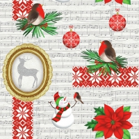 Servietten 33x33 cm - X-Mas Items