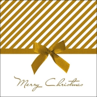 Servietten 33x33 cm - Christmas Bow Gold