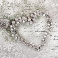Servietten 33x33 cm - Heart Of Pearls