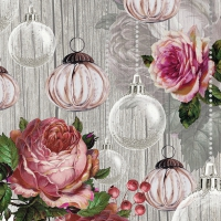 Napkins 33x33 cm - Roses And Baubles