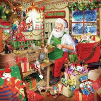 Servietten 33x33 cm - Santa`s Workshop