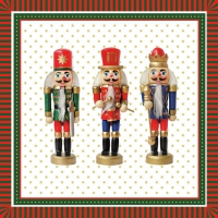 Servietten 33x33 cm - Three Nutcrackers