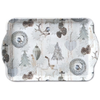 Tablett - 15X23cm White Decorations