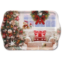 Tablett - 13X21cm Ready For X-Mas