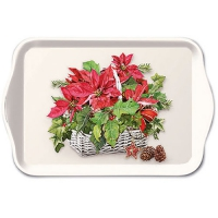 Tablett - Poinsettia In Basket