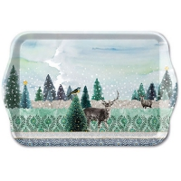 Tablett - 13X21cm Deer Winterscene