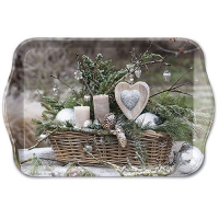 Tablett - 13X21cm Winter Arrangement