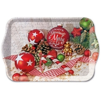 Tablett - 13X21cm Merry Little Christmas