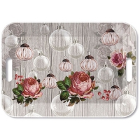 Tablett - Roses And Baubles