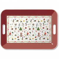 tray - Ornaments All Over Red