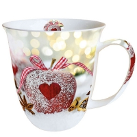 Porzellan-Tasse - Heart On Apple