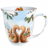 Porzellan-Tasse Squirrel Love