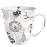 Porzellan-Tasse White Decorations
