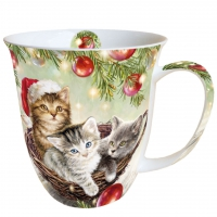 Porzellan-Tasse -  0.4 L Cats In Basket