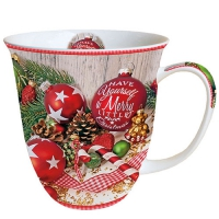 Porzellan-Tasse -  0.4 L Merry Little Christmas