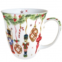 Porzellan-Tasse - Nutcrackers Decoration