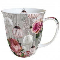 Porzellan-Tasse - Roses And Baubles