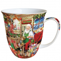 Porzellan-Tasse - Santa`s Workshop