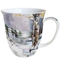Porzellan-Tasse - It`s Wintertime