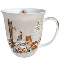 Porzellan-Tasse - Fox And Bird