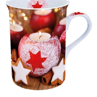 Porzellan-Tasse - Star On Candle