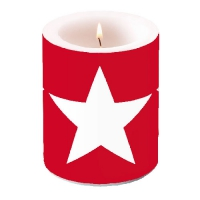 Kerze CANDLE STAR RED