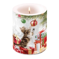 Dekorkerze Kitten And Bauble