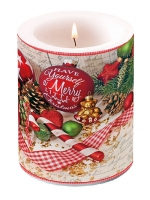 decorative candle - Merry Little Christmas