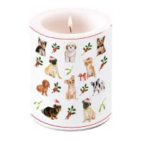 decorative candle - Christmas Dogs