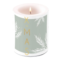 decorative candle - X-Mas Green