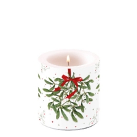 Decorative candle small -  Mistletoe